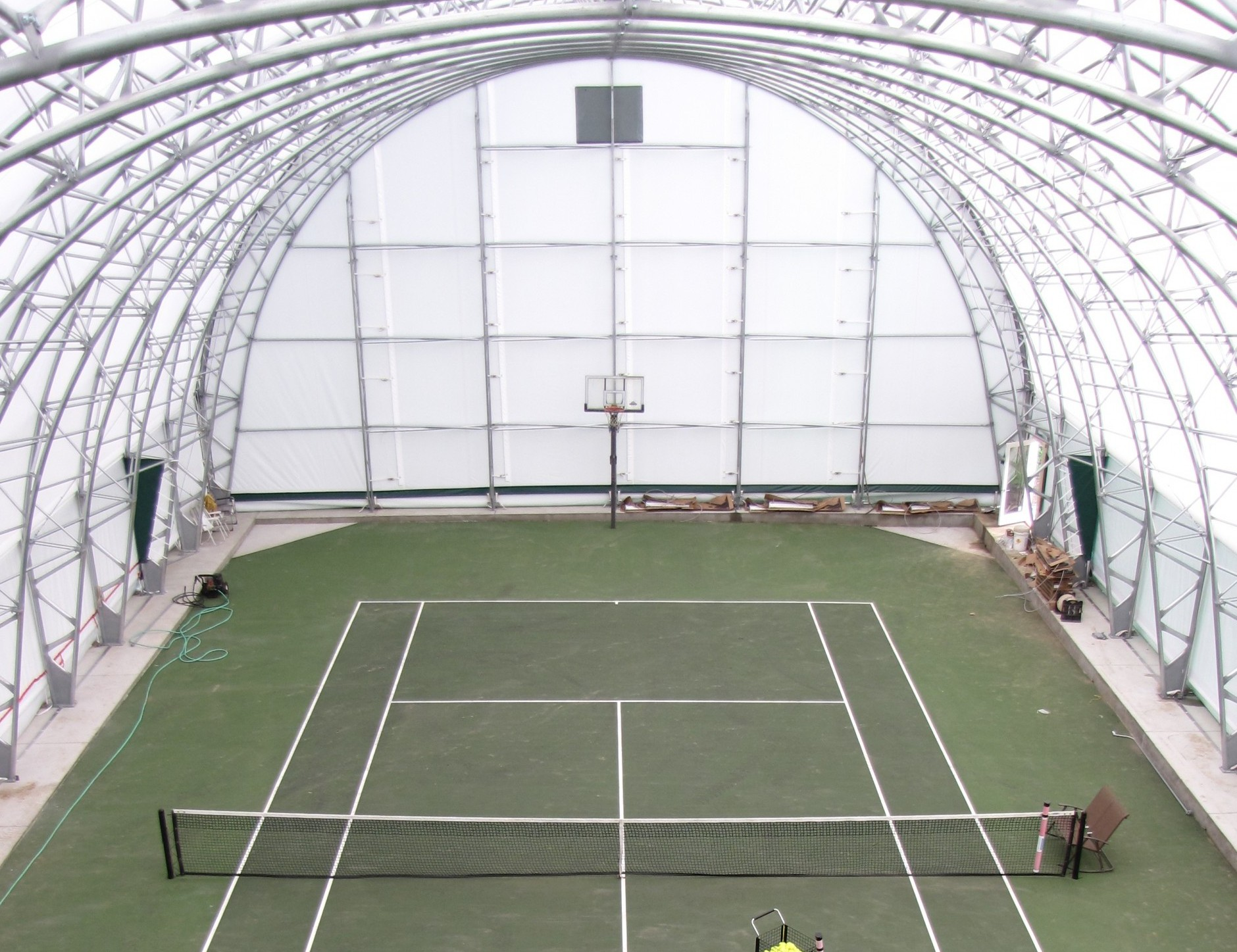 Fabric building for indoor tennis winkler structures for How to build a sport court