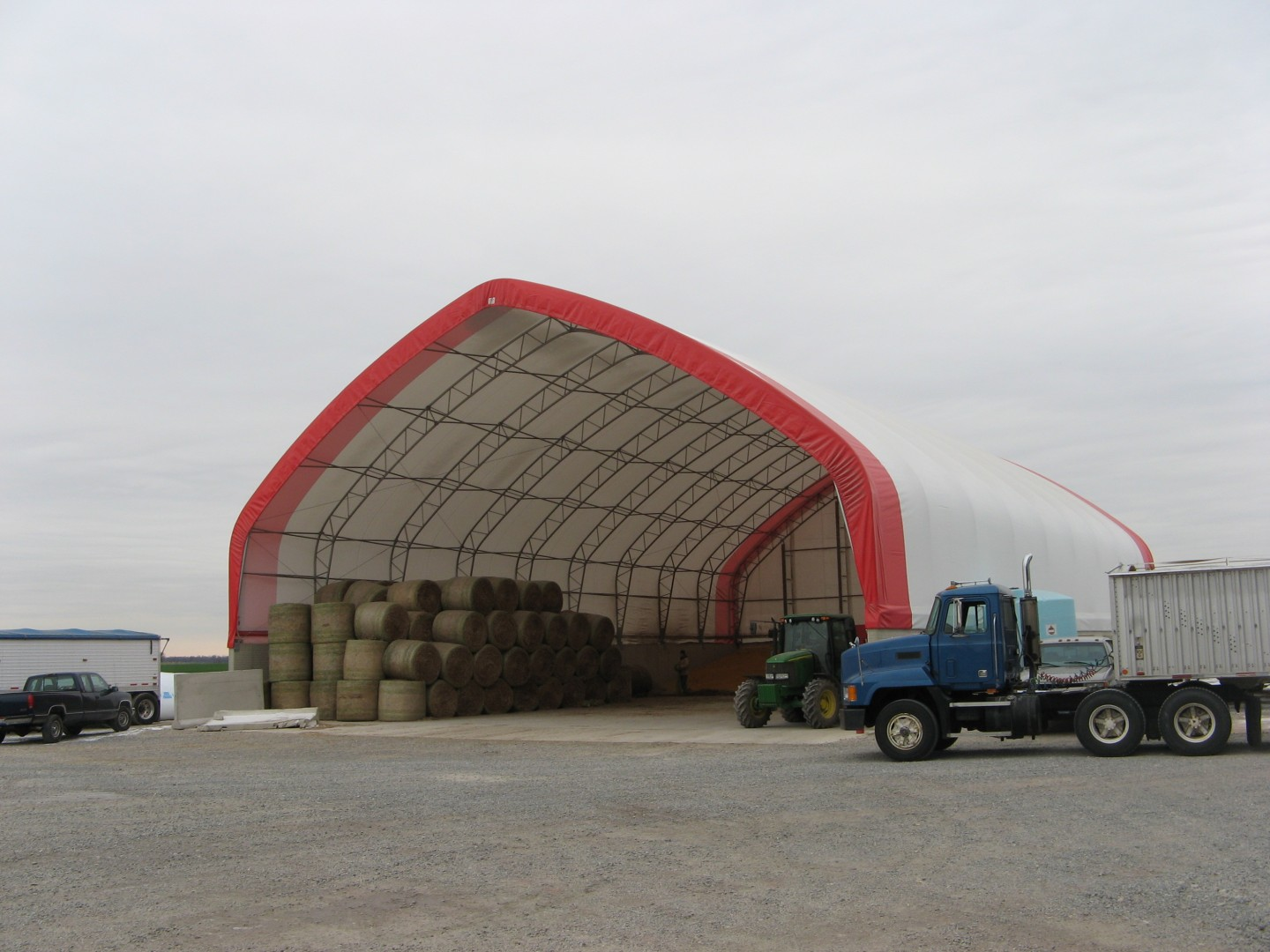 Fabric Building for Hay Storage