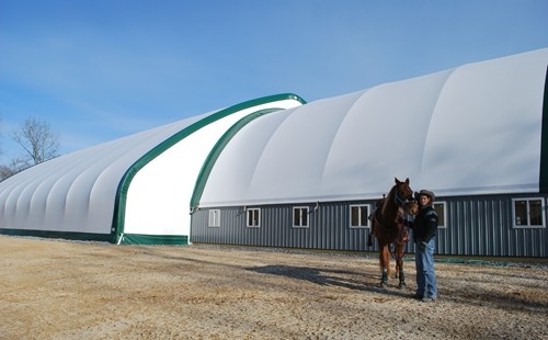 Winkler Structures can provide the ideal solution for riding during the winter.