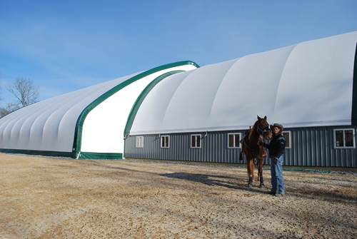 Covered Shelter Polygon : Fabric covered buildings the best shelter solution for
