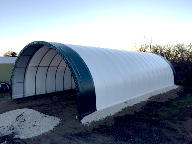 38' x 80' Fabric building for equipment storage
