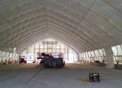 fabric building with insulation