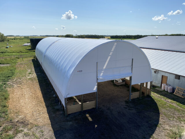 Winkler Structures 42'x 155' QuickBuild Wall Mount Dome